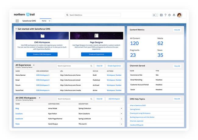 Plateforme Salesforce CMS